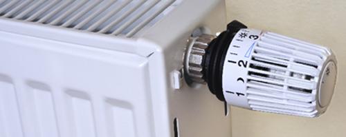 radiator met thermostaatknop